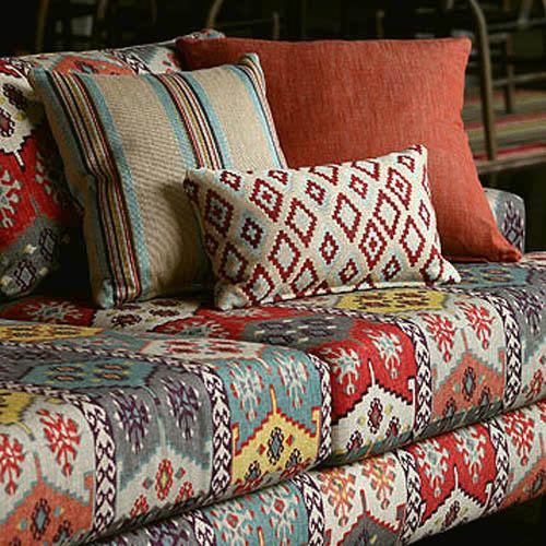 bedouin collection meubelstoffen met oosterse kelim. Black Bedroom Furniture Sets. Home Design Ideas